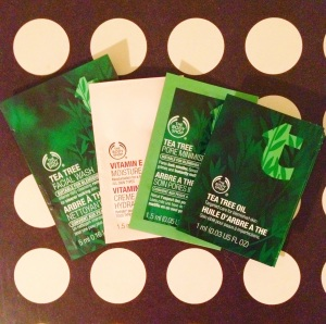 Sample Prize 1: Tea Tree Facial Wash, Vitamin E Moisture Cream, Tea Tree Pore Minimiser and Tea Tree Oil.