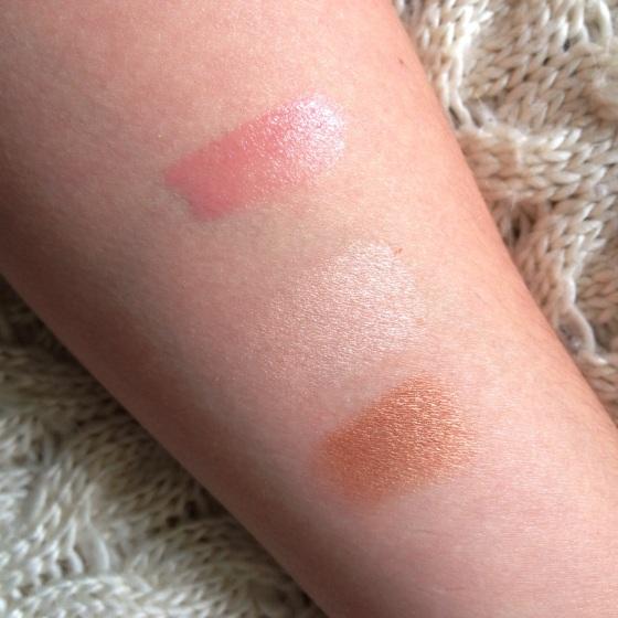 Lipstick, blush, bronzer